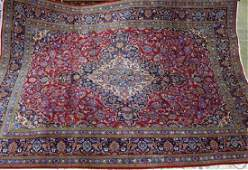 Semi Antique Persian Kashan rug 94 x 128