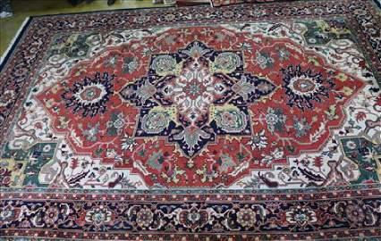 Fine Heriz rug, 12 x 18