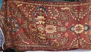 Semi Antique Persian Malayer rug 3 x 10