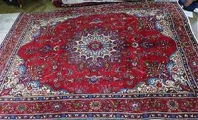 Semi Antique Persian Tabriz rug 92 x 13