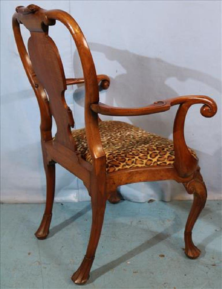 Pair Italian arm chairs with leopard upholstery - 3