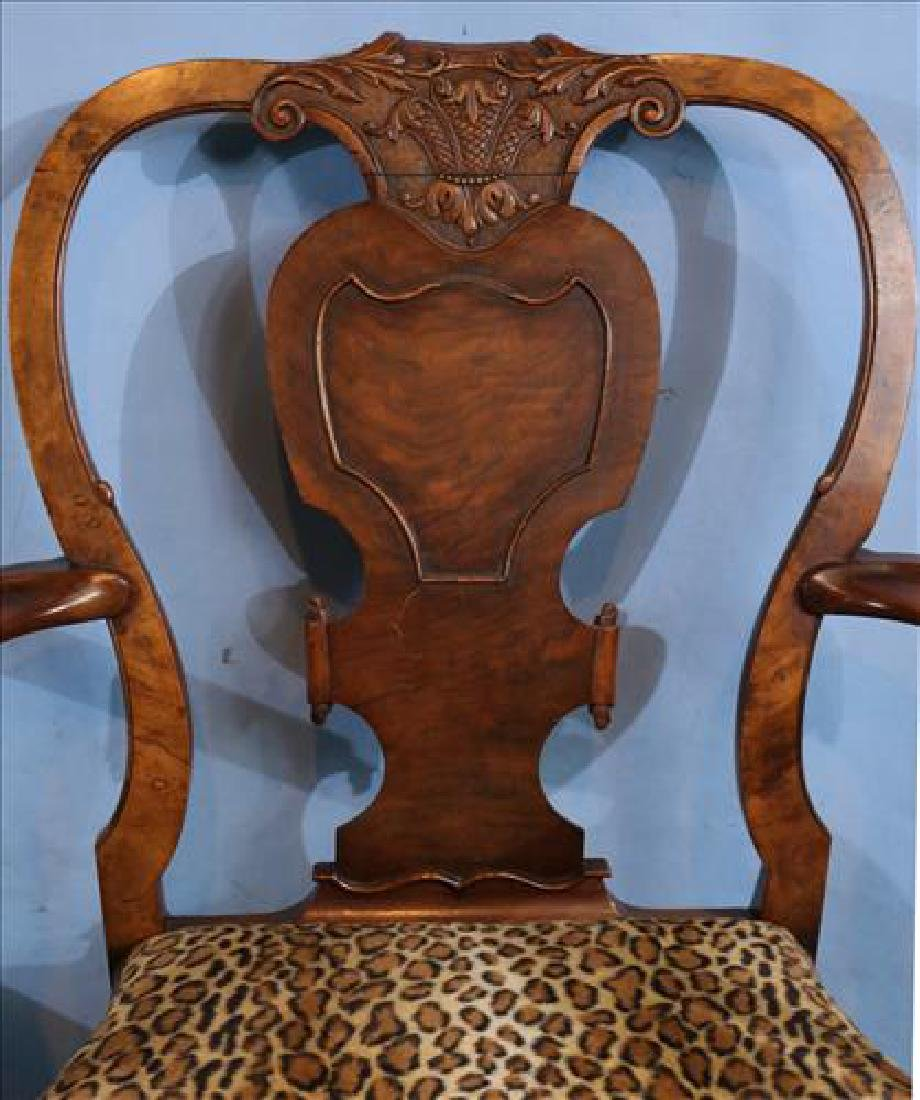 Pair Italian arm chairs with leopard upholstery - 4