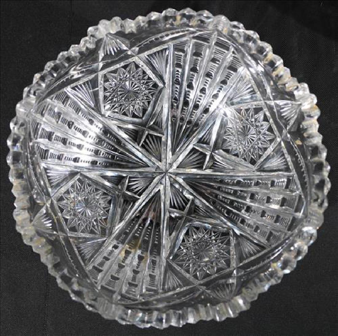 Brilliant cut glass bowl signed Libby - 2