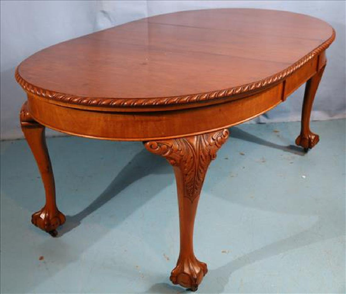 Mahogany Chippendale style dining table