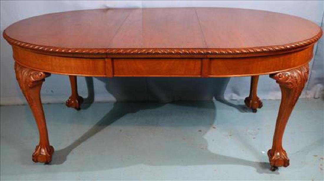 Mahogany Chippendale style dining table - 2