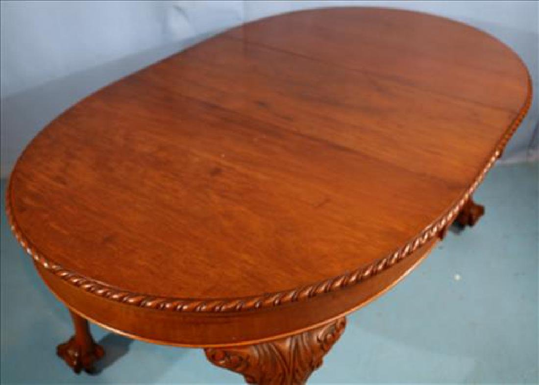 Mahogany Chippendale style dining table - 3