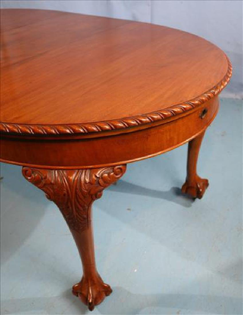 Mahogany Chippendale style dining table - 4