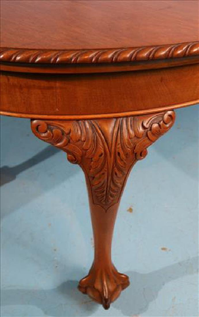 Mahogany Chippendale style dining table - 5