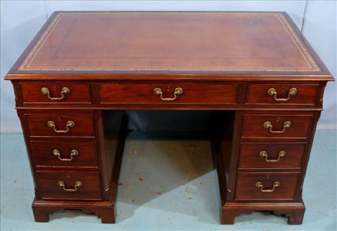 3 piece mahogany English antique desk