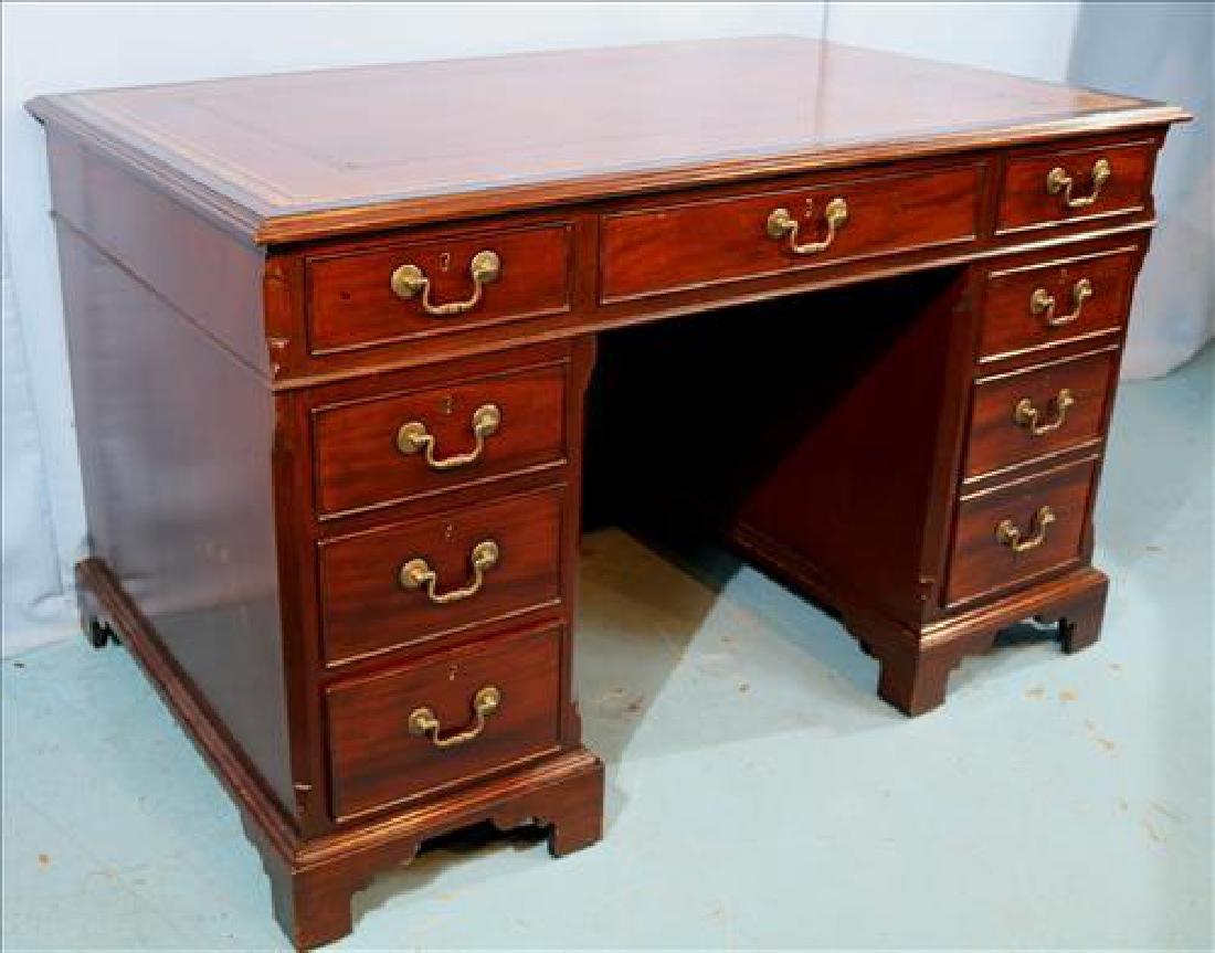 3 piece mahogany English antique desk - 2