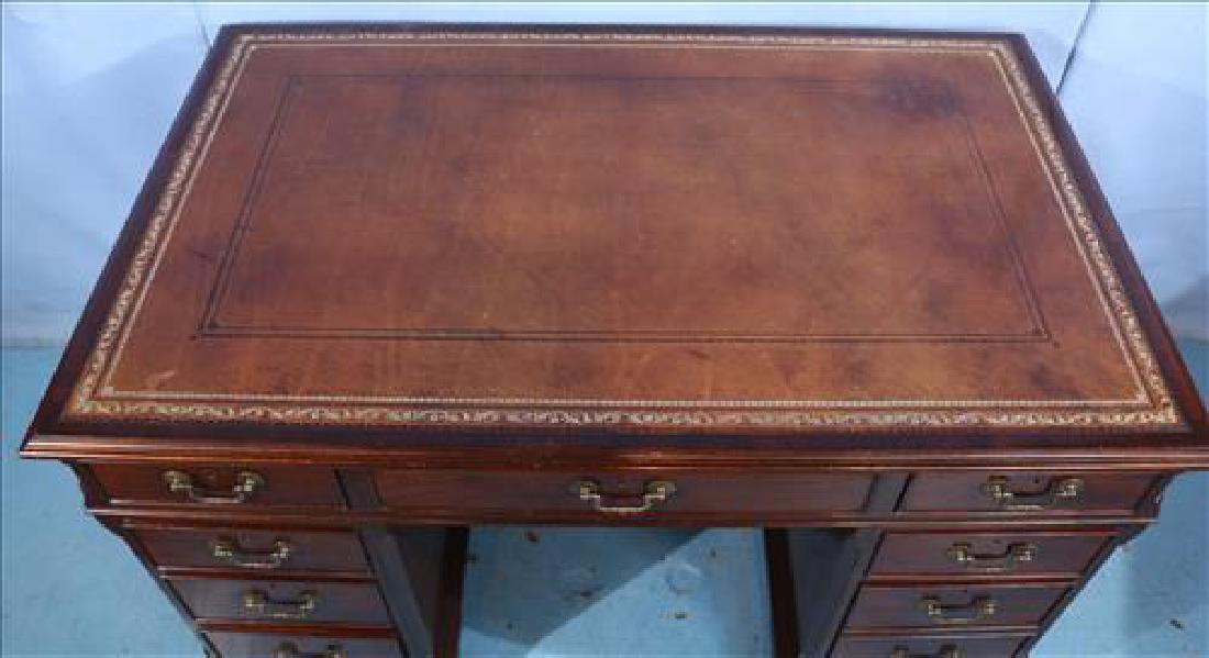 3 piece mahogany English antique desk - 3