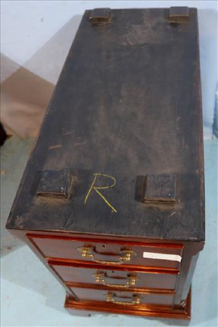 3 piece mahogany English antique desk - 4