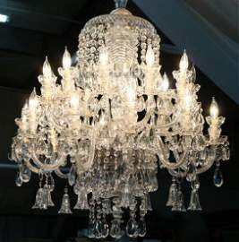 Magnificent 20 arm crystal chandelier, possibly
