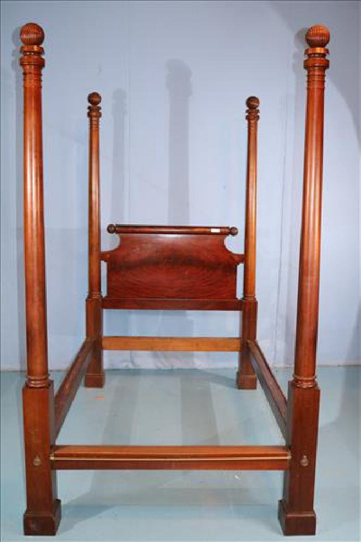 Tall mahogany Empire poster bed