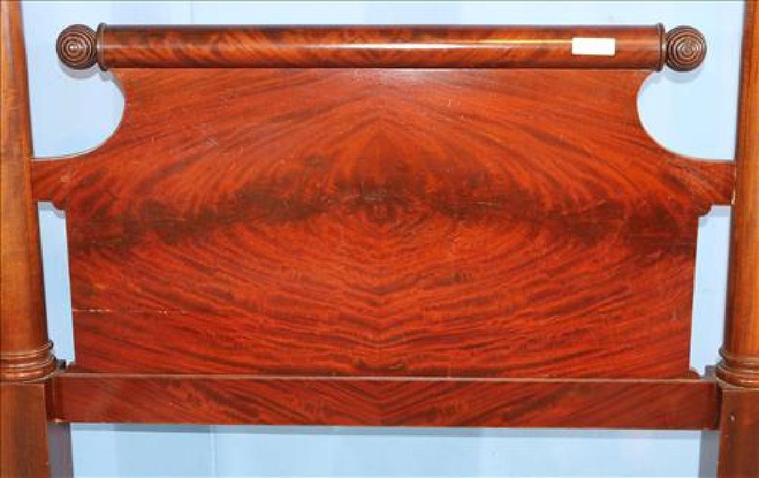 Tall mahogany Empire poster bed - 2
