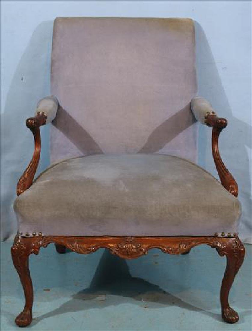 French style arm chair with purple upholstery