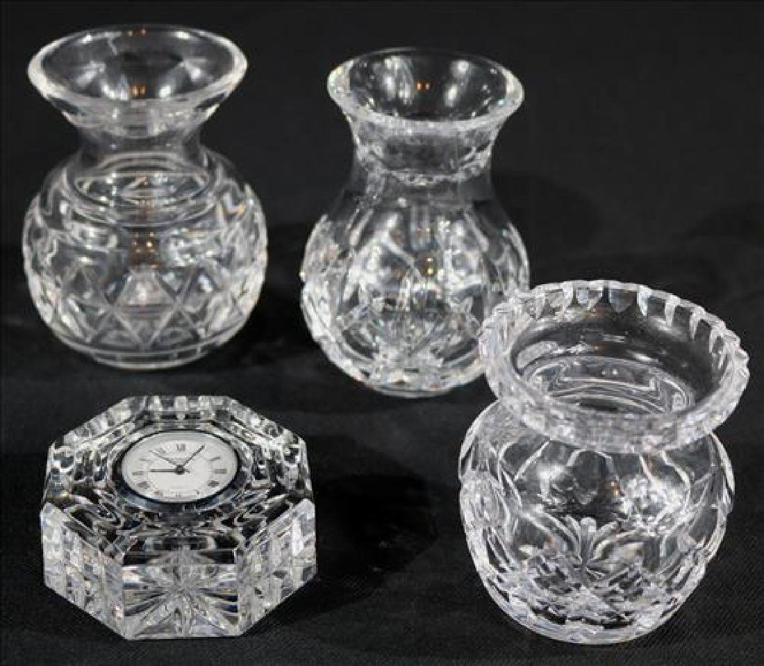4 pieces of crystal by Waterford