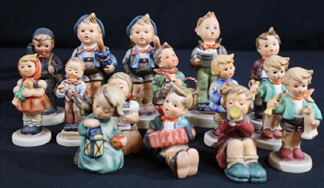 15 pieces Hummel figurines, Goebel W Germany