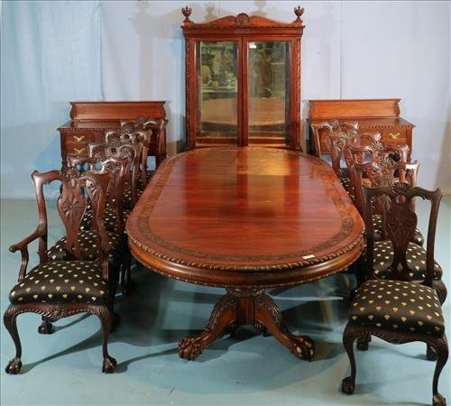 14 pc chippendale centennial matched dining room suit rh liveauctioneers com dining room suite for sale gauteng dining room suites harvey norman
