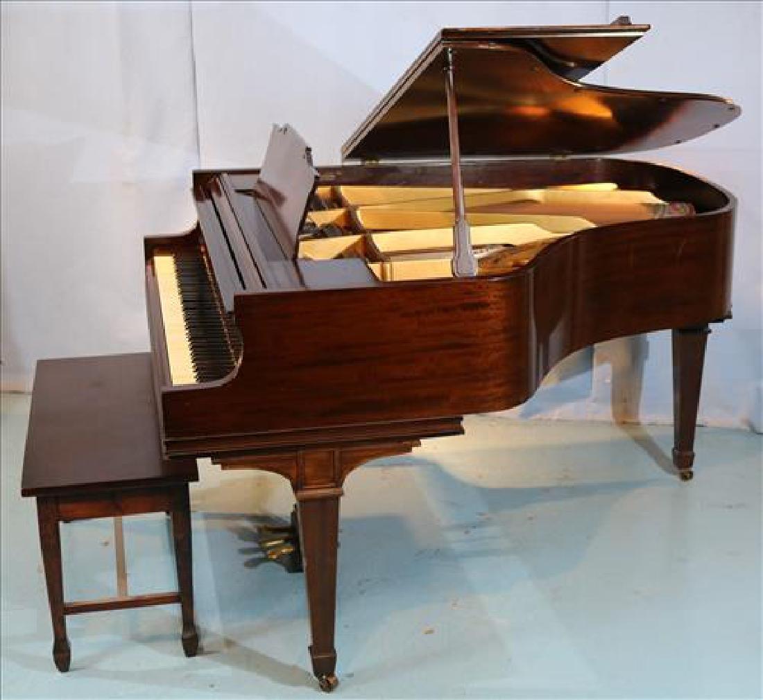 Mahogany parlor grand piano by William Knabe Co. - 2