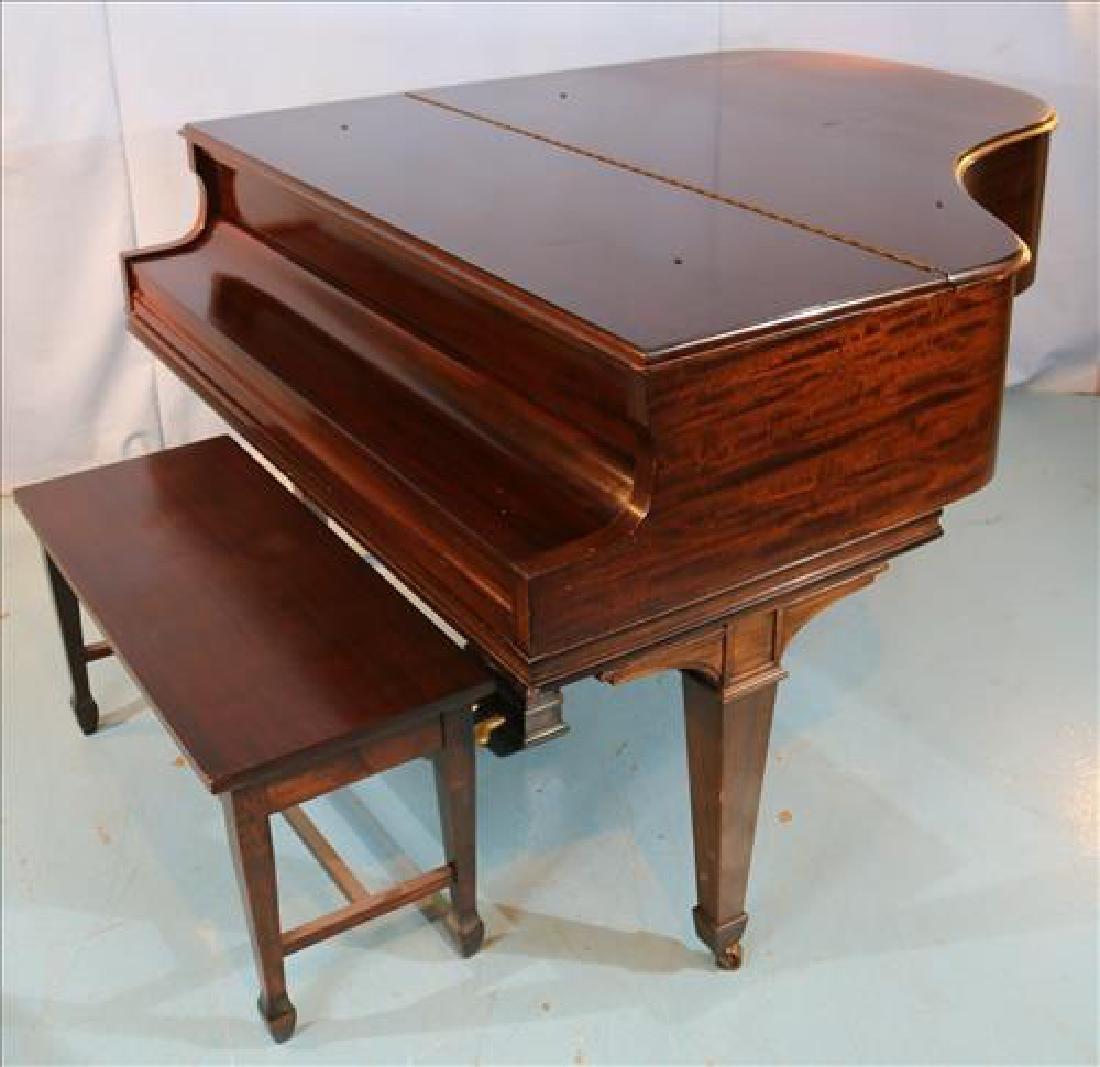 Mahogany parlor grand piano by William Knabe Co. - 4