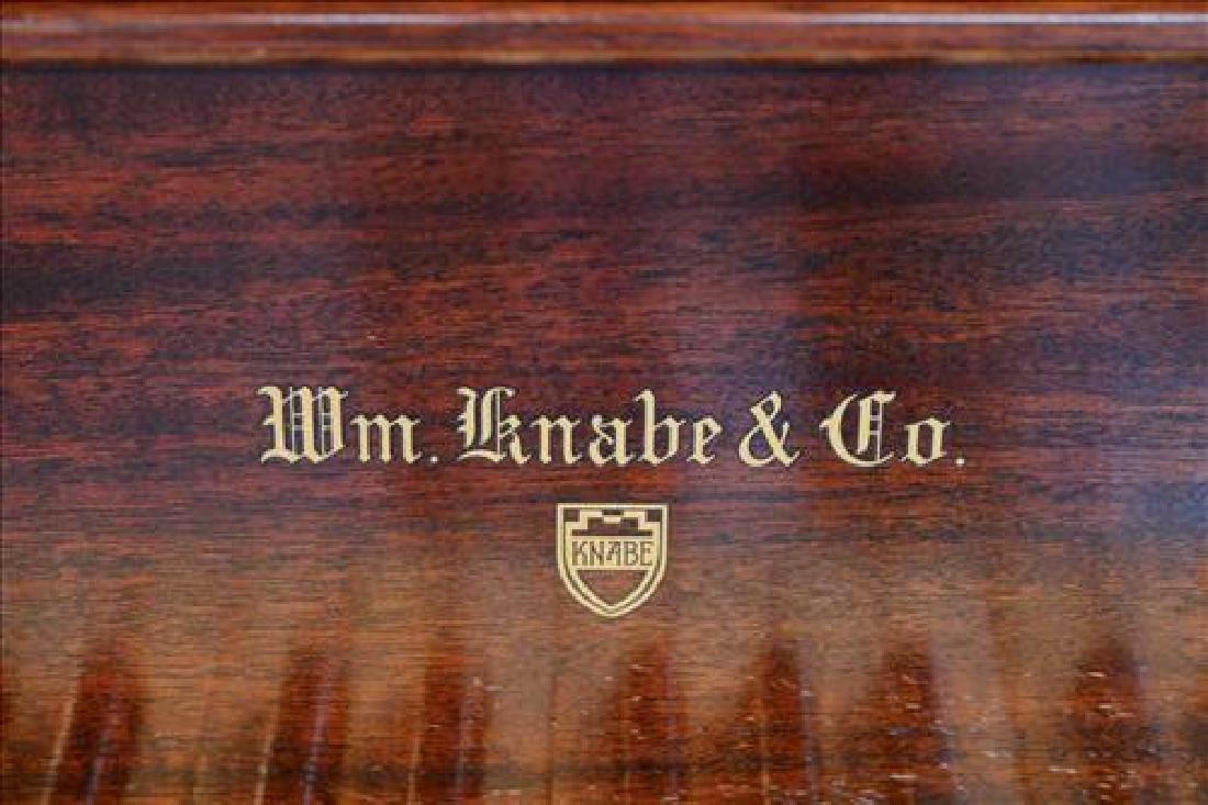Mahogany parlor grand piano by William Knabe Co. - 5