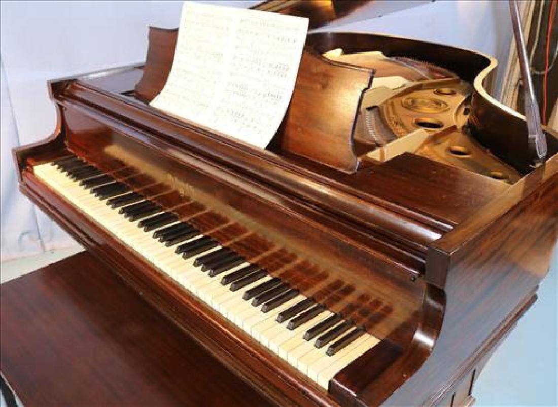 Mahogany parlor grand piano by William Knabe Co. - 6