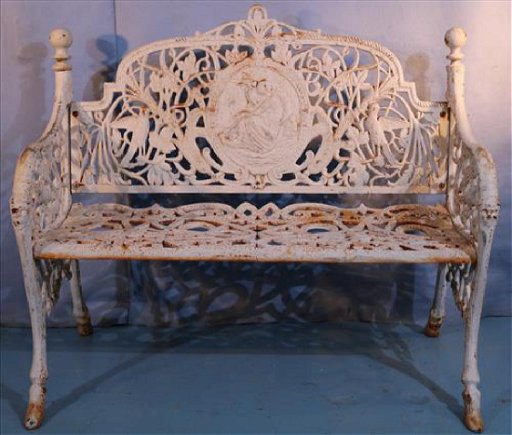 Sensational Cast Iron Small Garden Bench 36 In T 42 In W 15 Caraccident5 Cool Chair Designs And Ideas Caraccident5Info