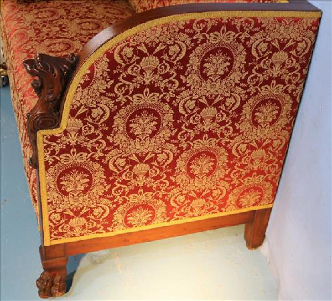 Mahogany heavily carved sofa with lion heads - 5