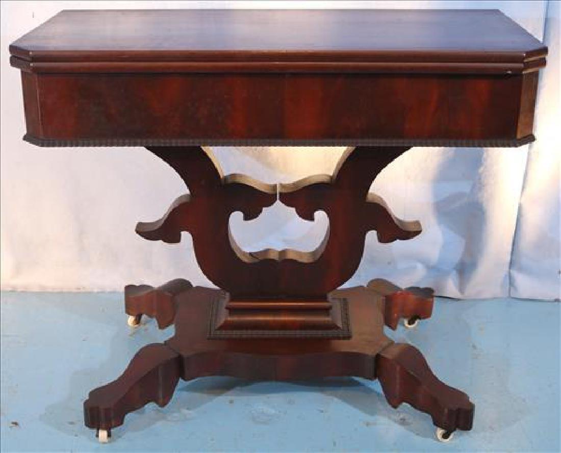Square mahogany Empire game table