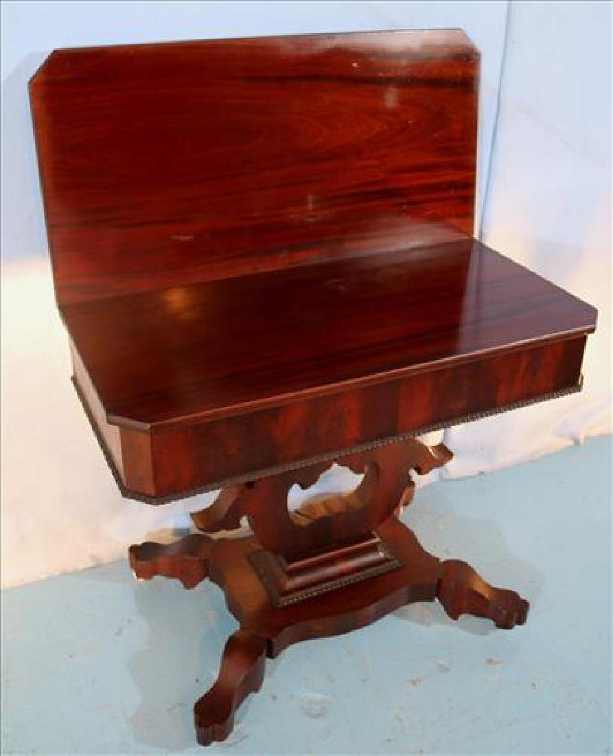 Square mahogany Empire game table - 3
