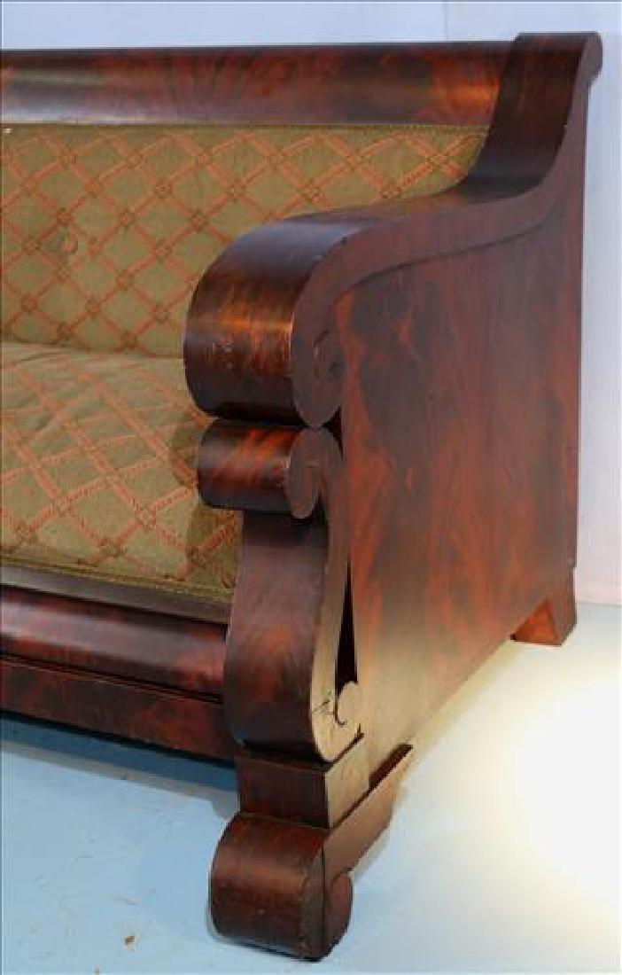 Mahogany Empire Meeks style sofa, 80 in. L. - 2
