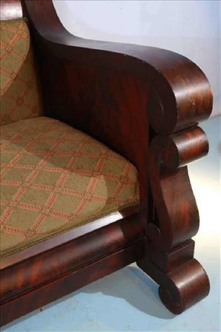 Mahogany Empire Meeks style sofa, 80 in. L. - 3