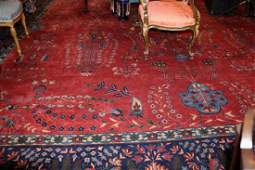 Palace size Persian handmade antique rug, 25 x 15