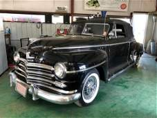 1948 Plymouth convertible with V-8 Engine