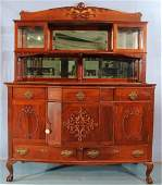 Mahogany Chippendale sideboard with display