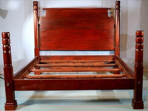 Custome made mahogany king size poster bed