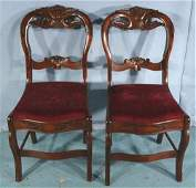 Pair rosewood balloon back dining chairs