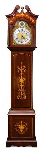 Marquetry Inlaid Grandfather Clock