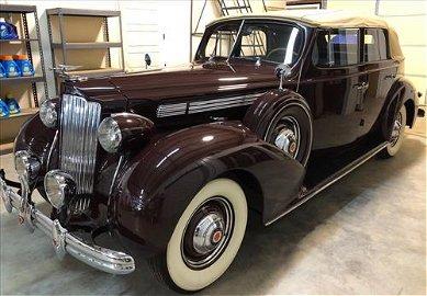 1939 Packard 4 door convertible, in new condition