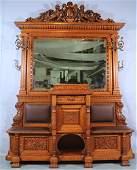 Monumental American Oak HallTree