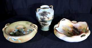 3 pieces of hand painted Nippon