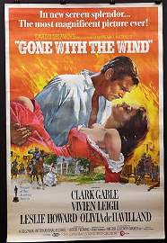 """""""Gone with the Wind"""", 40 x 60 , Year - 1970"""
