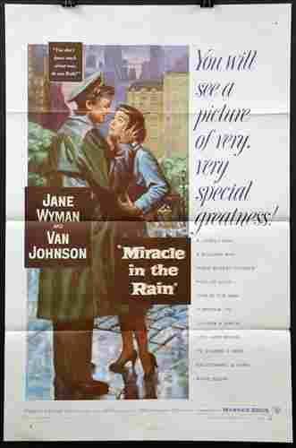 """Miracle in the Rain"", 27 x 41, Year - 1956"