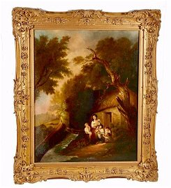 Large and Beautiful 19th Century Oil on Canvas