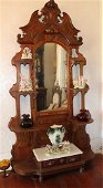 Victorian Etagere with White Marble