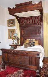 Walnut Eastlake Half Tester Bed