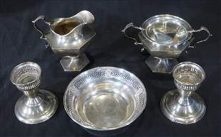 5 piece small sterling serving pieces