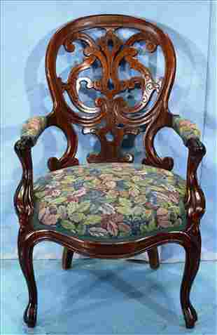 Rosewood laminated parlor arm chair