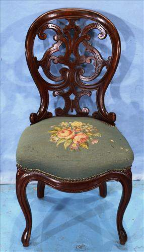 Rosewood laminated parlor side chair
